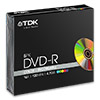 Диски (болванки) TDK DVD-R 4,7Gb 16x Color slim box/5