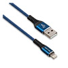 Кабель для Apple 8-pin - USB (m), 1.2м  JELLICO KDS-25, хлопок, Blue, 3A