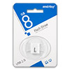Накопитель USB Flash (флешка) SmartBuy LARA  8Gb  White (белый)