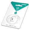 Накопитель USB Flash (флешка) SmartBuy LARA  16Gb  White (белый)