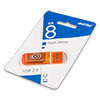 Накопитель USB Flash (флешка) SmartBuy Glossy  8Gb  Orange (оранжевый)
