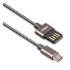 Кабель USB 2.0 (m) -- micro USB 2.0 (m) REMAX Tinned Copper, 1 метр, 2А, черный
