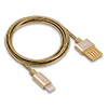 Кабель для Apple iPhone 5,6,7/iPad Air (Lightning) -- USB REMAX Tinned Copper, 1 метр, 2А, Gold