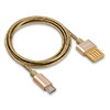 Кабель USB 2.0 (m) -- micro USB 2.0 (m) REMAX Tinned Copper, 1 метр, золотой