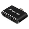 Концентратор USB Type-C DEFENDER 2 порта Quadro Dual Black