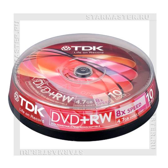 Диски (болванки) TDK DVD+RW 4,