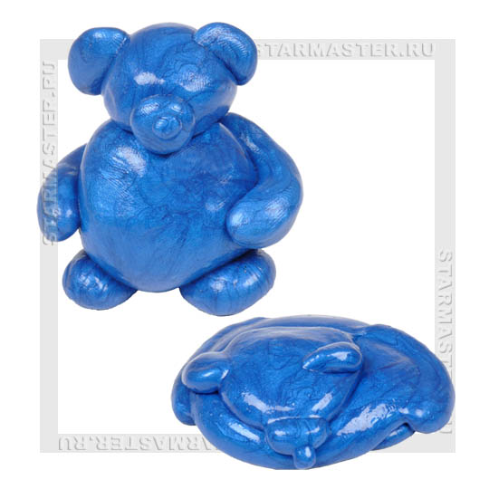 "Нано пластилин   ""Металлик"", синий"